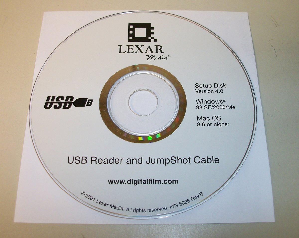 Details about Original Driver CD Disc for Lexar Media USB Reader JumpShot  Cable Win 98/2000/ME